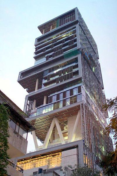 The $1 billion Mumbai family home of Mukesh Ambani