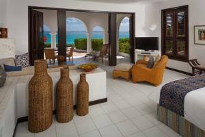 A junior suite at Cap Juluca
