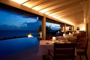 Hotel Le Toiny at dusk