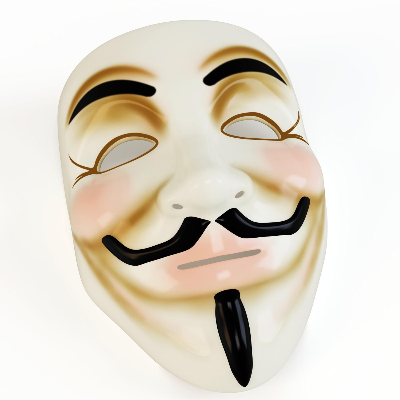 3d mask anonymous face symbol