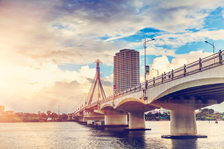 Bridge in the city,vietnam