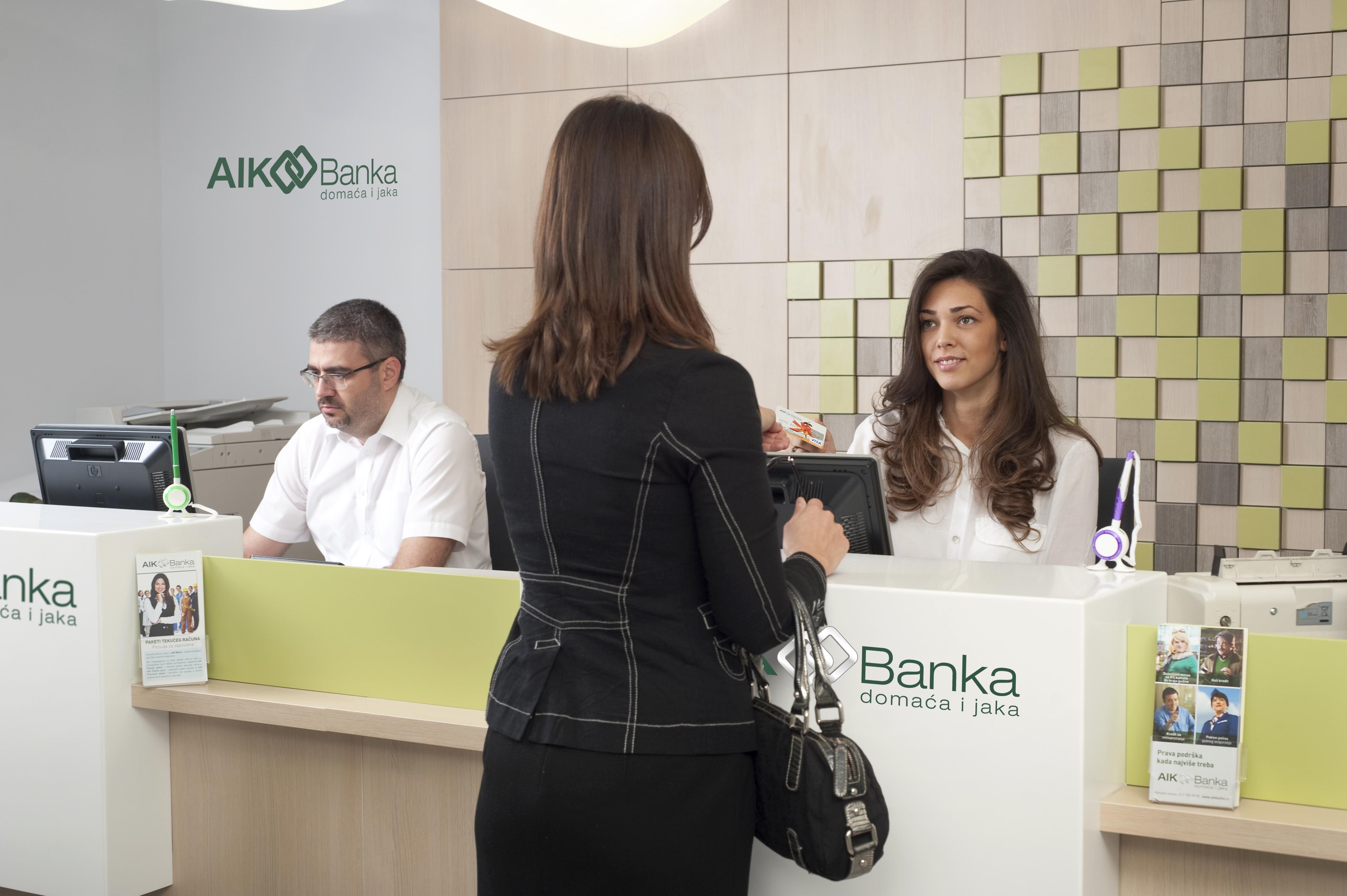 AIK Banka filijala Grawe karticarstvo brendirano